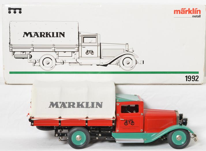 Marklin 1992 clockwork delivery truck in original box