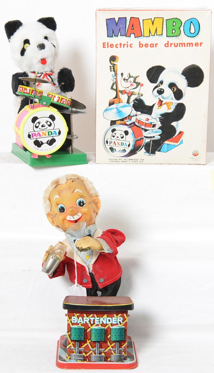 Mambo Panda and Rosko Bartender battery operated toys