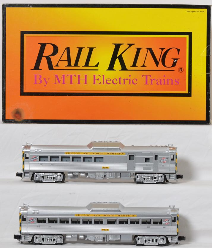 Railking C&NW Budd car set with Proto 2 30-2390-1