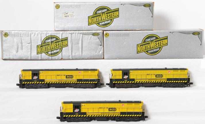 Three Lionel Chicago and Northwestern 8056 FM Trainmasters