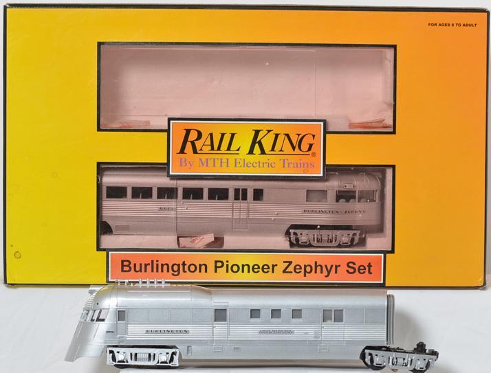 MTH Railking Burlington Pioneer Zephyr with Protosound