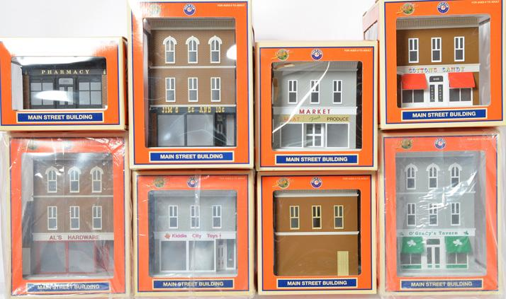 8 Lionel Lionelville buildings 34129, 34127, 34131, etc
