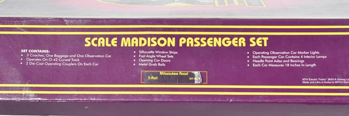 MTH Milwaukee Road Madison 5 car set