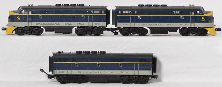 MTH C&O F 3 ABA Set, with Proto, 20-2125,