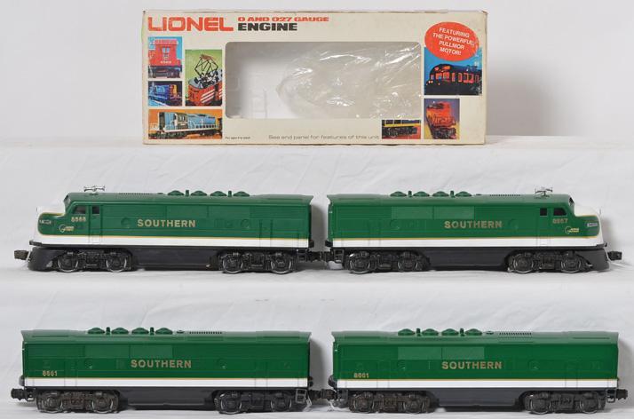 Lionel Southern F3 A-B-B-A 8661, 8566, 8567