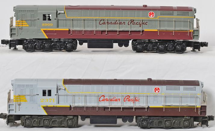 2 Williams Canadian Pacifc FM Trainmaster, #2371 & #8909