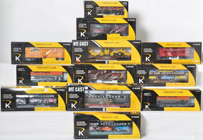 12 K Line Freight Cars, 22159, 693-1891, 694-1891, 762-5202, 612-1053