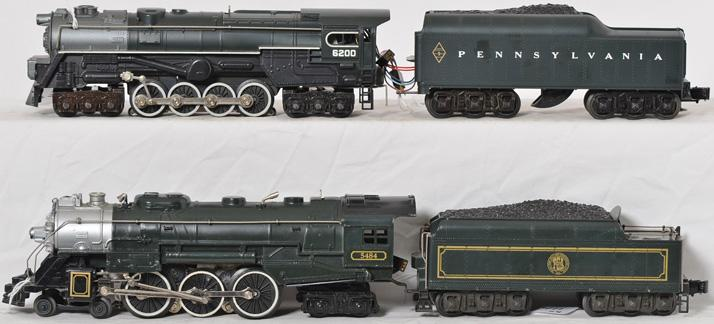 2 Lionel Steam Engines 8476 TCA Hudson and 8404 Pennsylvania S-2 Turbine
