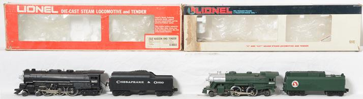 Lionel 8603 C&O Steam Hudson and 18601 Green Great Northern Steam