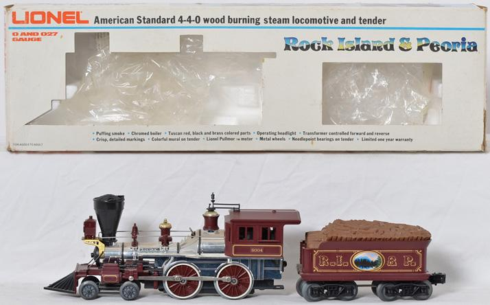 Lionel 8004 Rock Island and Peoria General steam