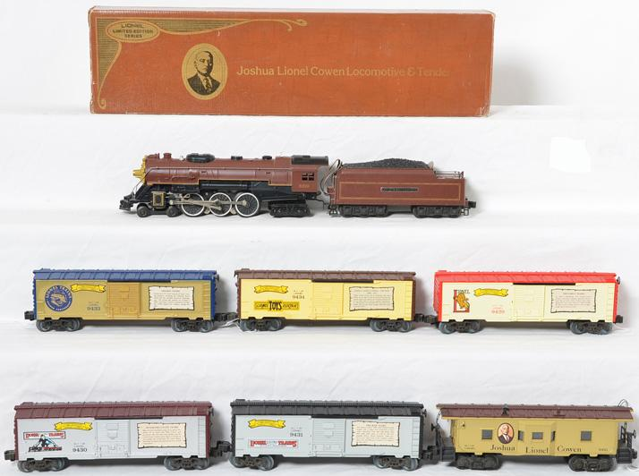 Lionel JLC loco, boxcars, and caboose 8210 6421,9429-31, 9433, 9434