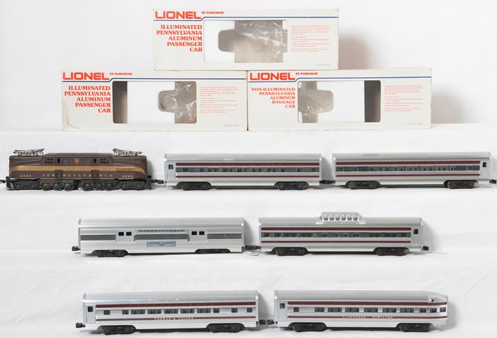 Williams Pennsylvania GG-1 and Lionel Aluminum Passsenger Cars