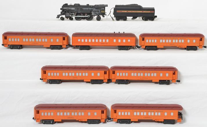 Lionel Milwaukee Road Steam Passenger Set, 8305 9500 9501 9502