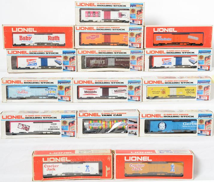 15 Lionel Brand Name Billboard Reefers, 9817, 9853, 9867, 9884, 9854, 9858,