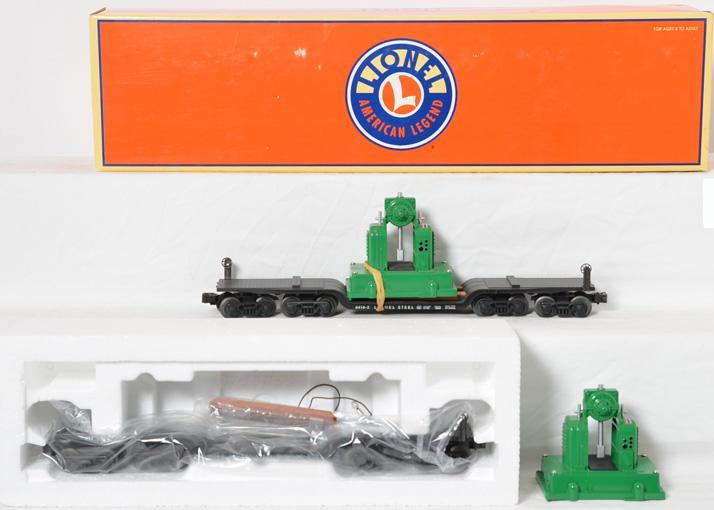 2 Lionel 36900 depressed flat with back shop load