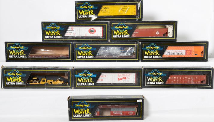 9 Weaver Freight Cars, 10046, 729814, 800522, 23099, 67392