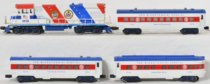Lionel TCA Bicentennial Special Passenger Set.