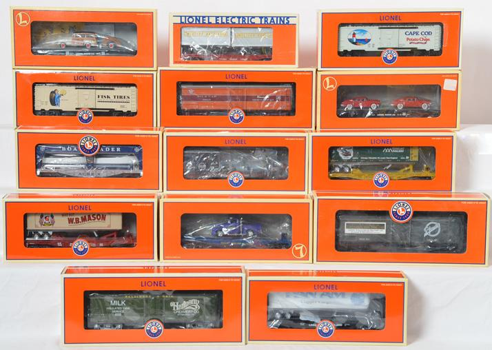 14 Lionel Freight Cars, 26868, 17332, 17549, 52383, 52343, 29413