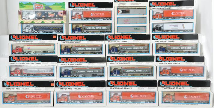 18 Lionel Tractor Trailers, 12739, 12725, 12777