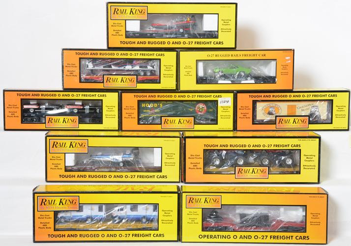 10 Railking Freight Cars, 7817, 7615, 76190, 76105, 7892, 76250