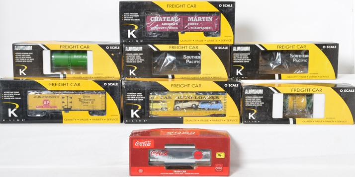 8 K Line Freight Cars, 6334-2031, 742-8020, 694-2111, 6242-5101
