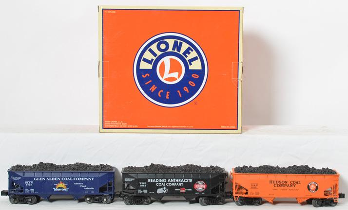 6 Lionel Die Cast Coal Hoppers, Anthracite Heritage Series #1