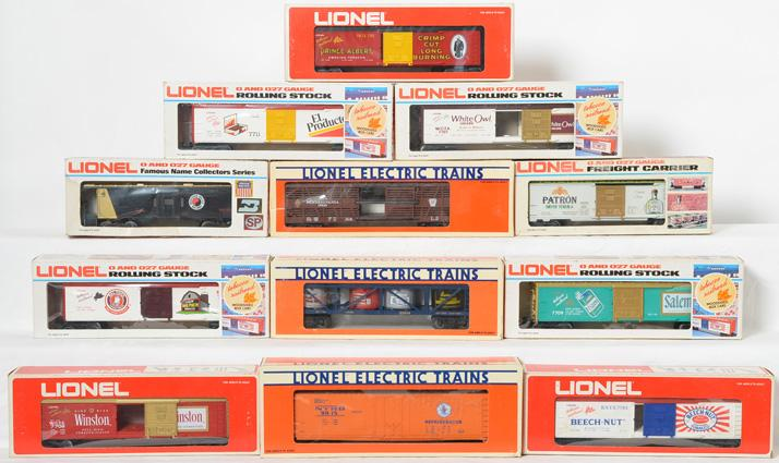 10 Lionel Freight Cars, 9268, 7703, 7708, 7709, 9815, 52044