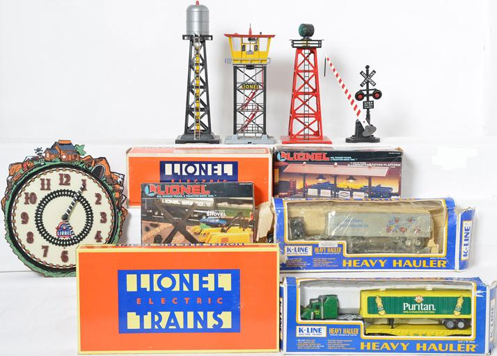Group of Train Layout Accessories