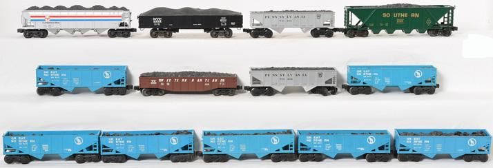 12 Lionel, K Line Coal Hoppers, 9011 6104, 6209, 531202