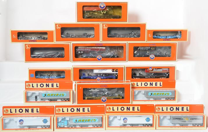 12 Lionel Flat Cars, Tractors are Missing, 26091, 52523, 52497, 52440, 52144
