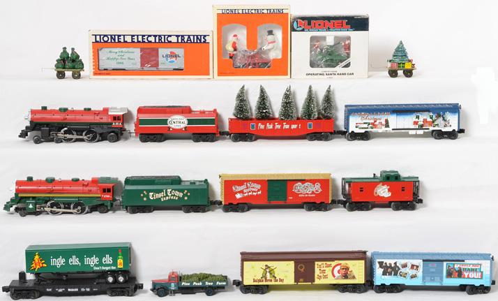 Lionel Christmas Train Engine,Cars, and Motorized Units