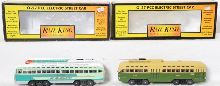 Railking 2532 Septa with Locosound and 2510 Washington Street Cars