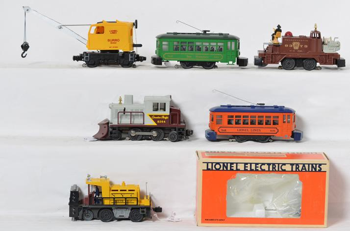 6 Lionel Motorized Units, 8379, 8578,8690,18402