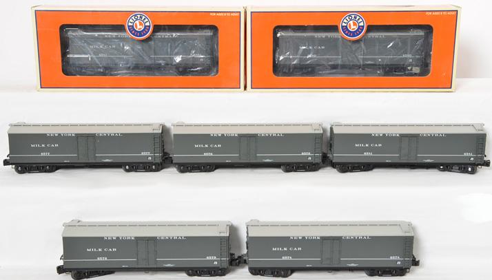 7 Lionel 17349 New York Central Milk Car, #6576-81