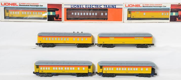 Lionel Chessie Special Passenger Cars,9581, 8582, 9584, 9586