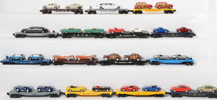 15 Flat Cars with Vehicle Loads,
