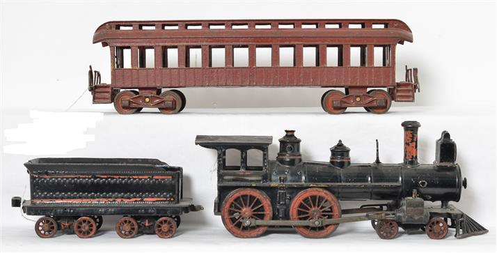 Nycrr Cast Iron Train: 1800's Wilkins Cast Iron Floor Train Set
