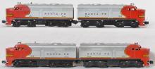 Two sets of Lionel 212 Santa Fe AA Alco units, four units altogether