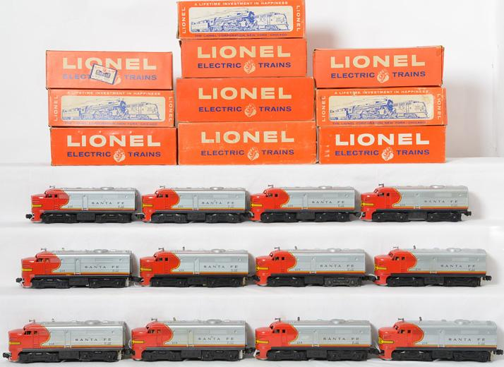 Seventeen Lionel Santa Fe 218 Alco units! With Boxes!