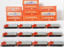 Seventeen Lionel Santa Fe 218 Alco units! With Boxes!