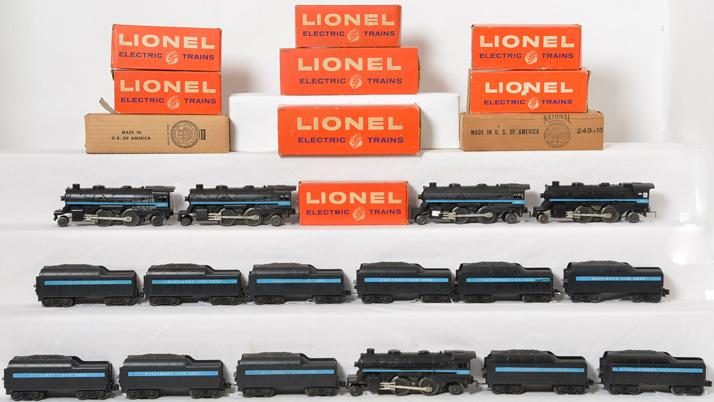 Huge lot of Lionel engines and tenders 247 and 249