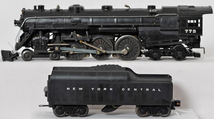 Lionel postwar 773 Hudson with 773W New York Central tender, OB