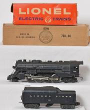 Lionel 736 steam locomotive with 2046W LL tender