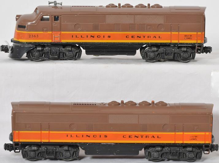 Lionel 2363 Illinois Central F3 AB units