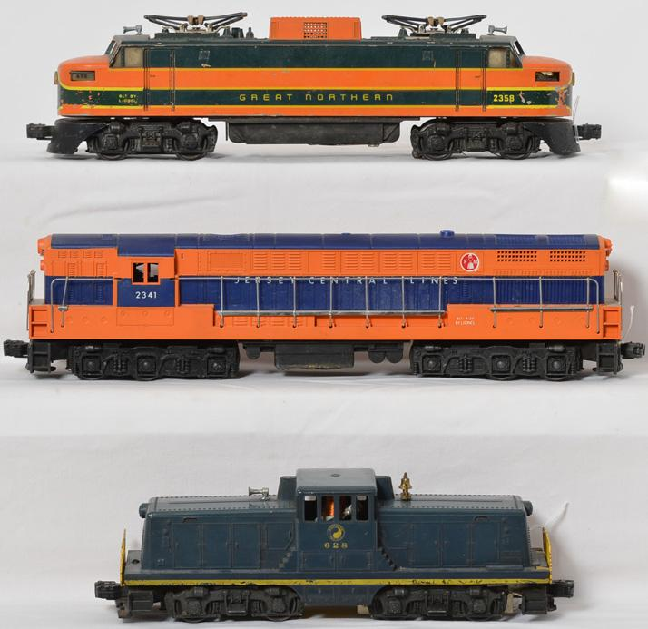 Lionel postwar O gauge 2341 JC repro, 628 NP, 2358 GN