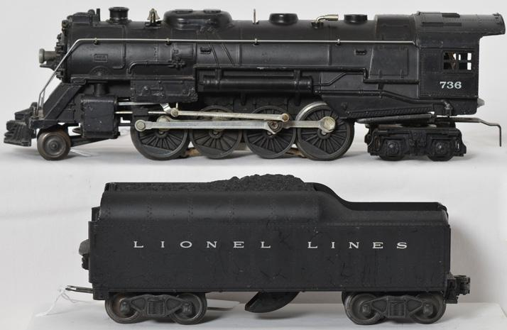 Lionel 736 steam locomotive and 2046W tender