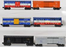 Lionel group of 6464 boxcars-25, -150, -175, -225, -275 x 2