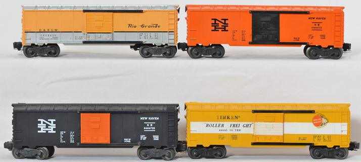 Lionel 6464 boxcar incl -500, -650, -725 orange and black both versions