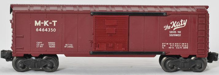 Lionel 6464-350 The Katy MKT boxcar