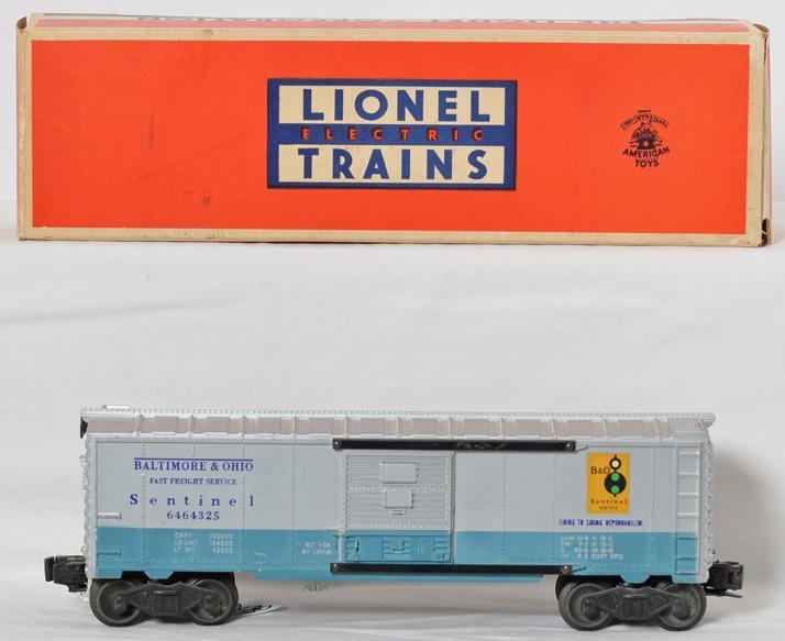 Lionel 6464-325 Baltimore and Ohio Sentinel boxcar, OB